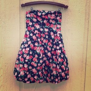 Pins and Needles Rose Floral Strapless Dress