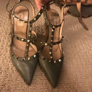 Pointed Valentino Studded Heels