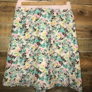 Anthropologie Beth Bowley floral skirt