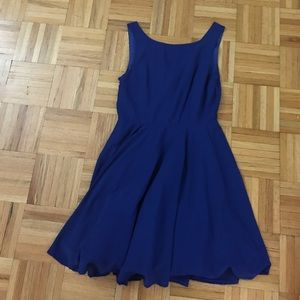 Dresses & Skirts - Sapphire Blue Chiffon Dress