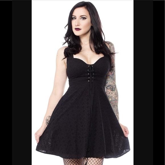 Sourpuss Dresses Magnolia Black Corset Dress Poshmark