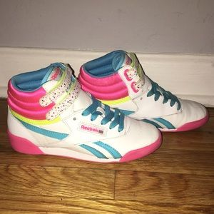 649641f9832 Reebok Shoes - 🎉Reebok Kids Freestyle Hi Birthday🎉