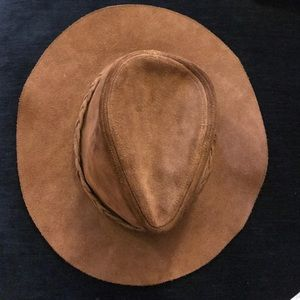 d43b04298e7 Urban Outfitters Accessories - Leather boho floppy festival hat
