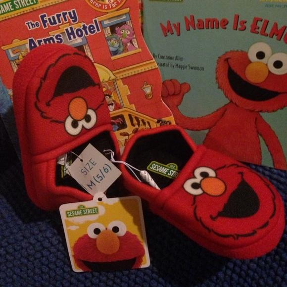 Sesame Street Shoes Elmo Slippers Size 56 Poshmark