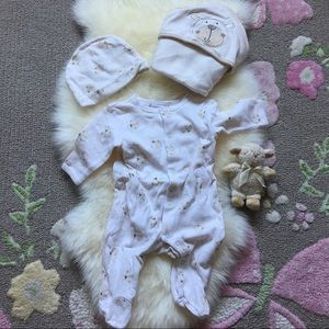 Other - 🎉HP🎉3x piece neutral baby coverall, hat, blanket
