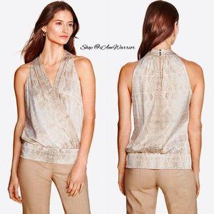 WHBM NWOT silky snake print sleeveless top