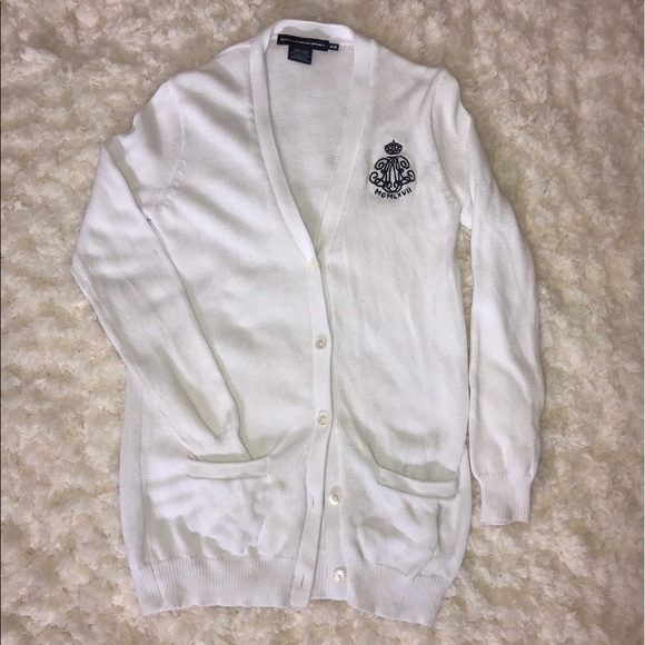 Ralph Lauren Sweaters - {Ralph Lauren} heavy white sweater cardigan