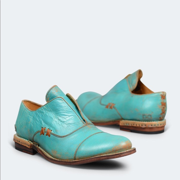 086043b214f Bed Stu Shoes - Bed Stu Garden Turquoise Lux Oxford