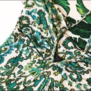 T bags print jersey halter maxi dress
