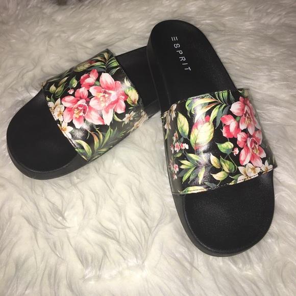 esprit shoes floral slides poshmark