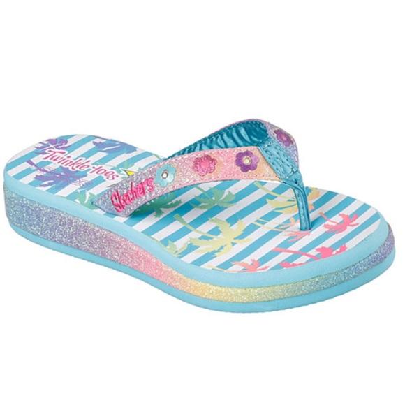 Skechers Shoes  Twinkle Toe Light Up Flip Flops  Poshmark-6586