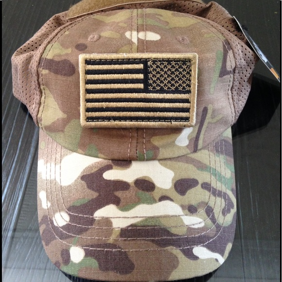 Condor multicam mesh tactical cap USA flag patch 768d34245d3f