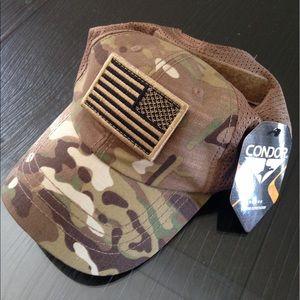 045a06213aaee Accessories - Condor multicam mesh tactical cap USA flag patch