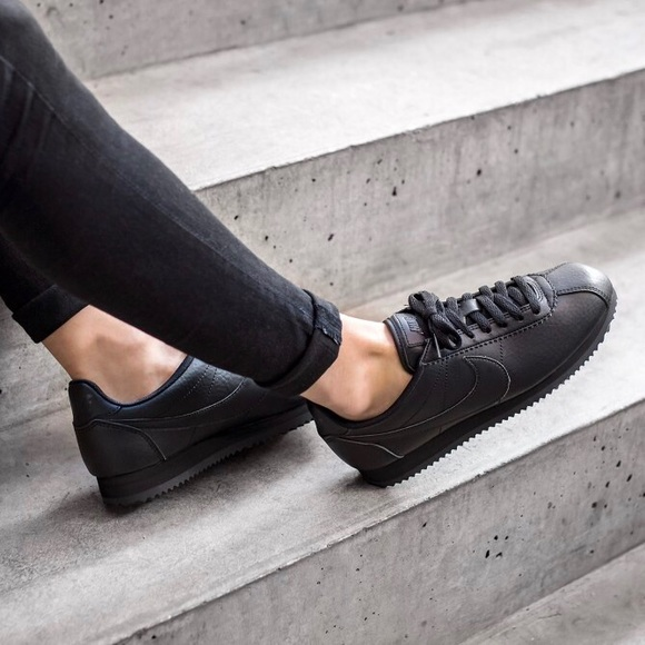 the best attitude amazon new cheap Nike Triple Black Premium Cortez Sneakers