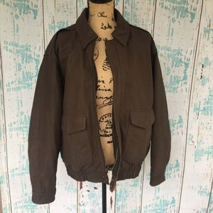 G III Authentic Leather Aviator Bomber Jacket
