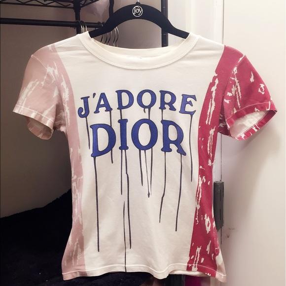 Authentic Christian Dior J'ADORE T shirt US 6