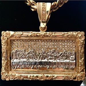 Other - Gold Plated Last Supper Pendant [WITHOUT NECKLACE]
