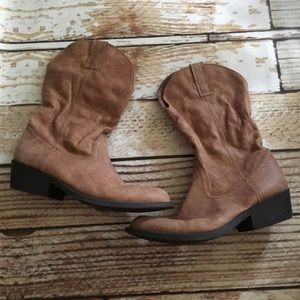 Rampage Walden mid calf cowboy boots size 8