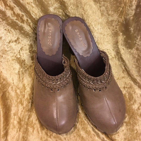 bamboo sale bamboo clogs high heel slides shoes mules