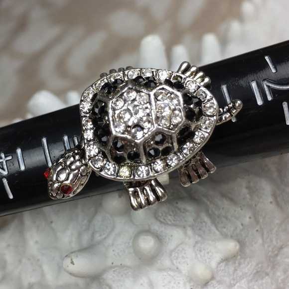 98 jewelry turtle ring with moving