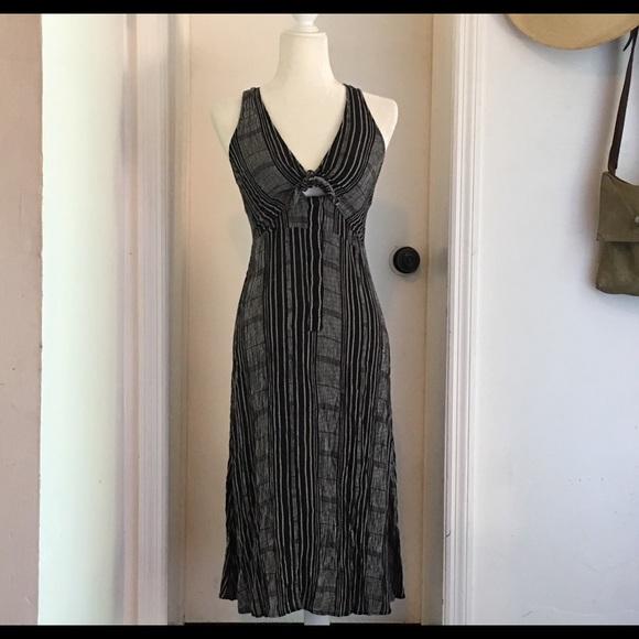 Nordstrom Dresses Lush Black Tie Front Midi Dress Size L Poshmark