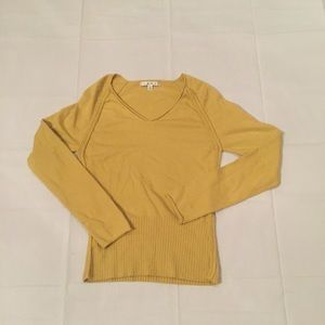 Cabi mustard yellow sweater top style # 632 sz S
