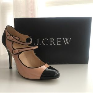 Jcrew Mona Two-Toned Patent Mary Janes