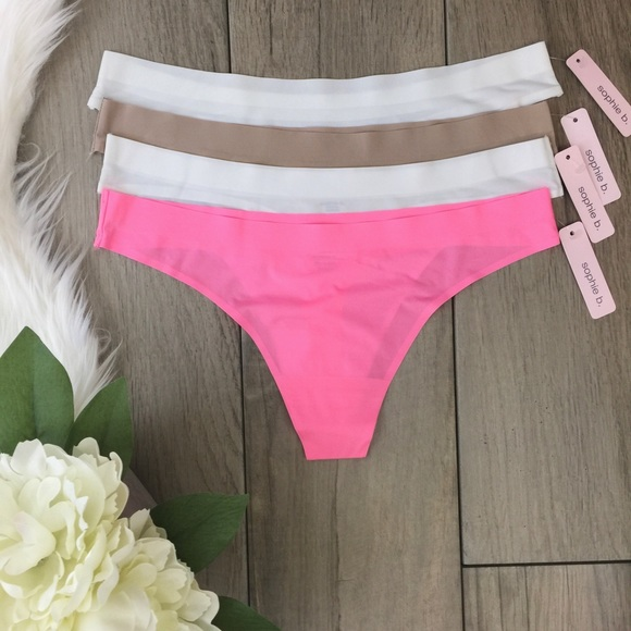 f7d66adb59528 Sophie B Intimates & Sleepwear | 4 Pack Laser Cut Thong Panty Set ...