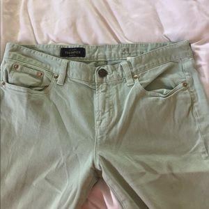 Mint J. Crew Toothpick 31 Ankle Pants