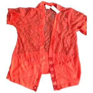NWT Rue21 Women's Lace Cardigan