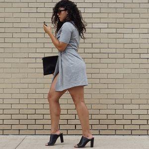 Topshop Dresses - Topshop Grey Wrap Dress
