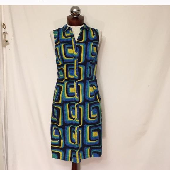 Boden Dresses - BODEN 60's mod print cotton iris shirt dress 2