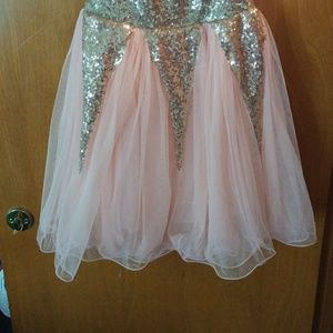 Just Couture Dresses - Gorgeous sequin dress, pink & gold! Girls size 5/6