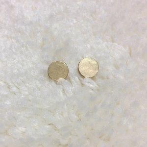 Small Circular Stud in Matte Gold