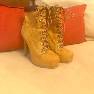 Charlotte Russe Work Boot Stilettos Size 7