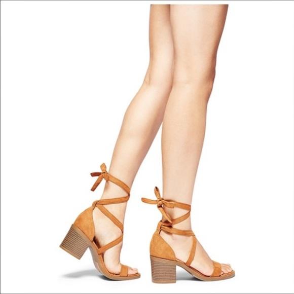 9b6b719e0dc7 Merona matilda laced up heels. M 5957d818522b45d164033f58