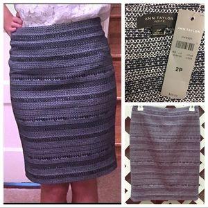 Ann Taylor Pencil Skirt Tweed 2p