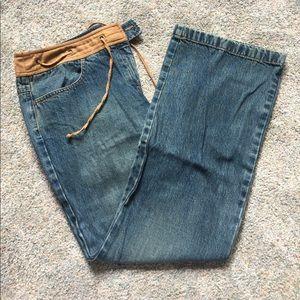 Ann Taylor Loft Suede Band Jeans