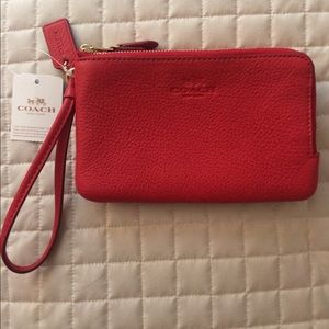 NWT Coach Red Wristlet- FINAL PRICE!