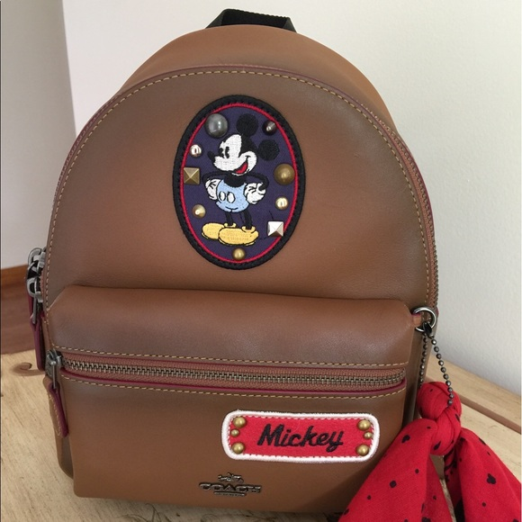 9a361312c1 Mickey Patches Mini Charlie Backpack