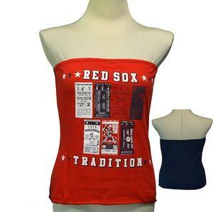 9ae93262c8 Tops - Boston Red Sox Baseball tube top tee