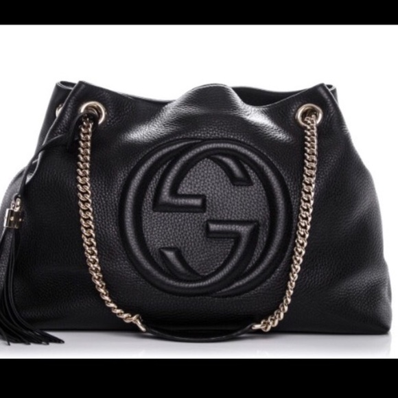 67d89514f Gucci Handbags - GUCCI SOHO LEATHER BAG IN BLACK - Good condition!
