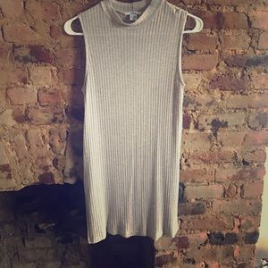 Cute mock neck tank with slide slits