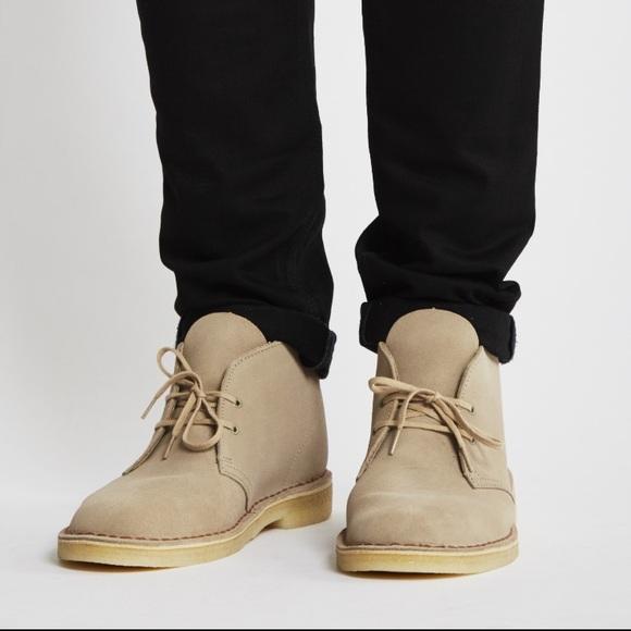 53846589f70 Clarks Desert Boots Sand Suede