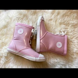 Converse rain boots pink