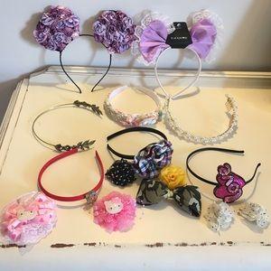 Headband and hair bow lot