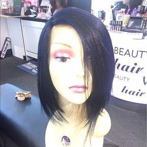 Accessories - Blue black swisslace Lacefront wig short bob new