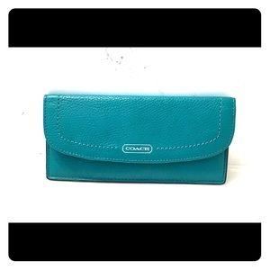 Coach Slim Envelope Leather Wallet