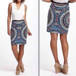 NWOT Anthropologie Tabitha Geometric skirt