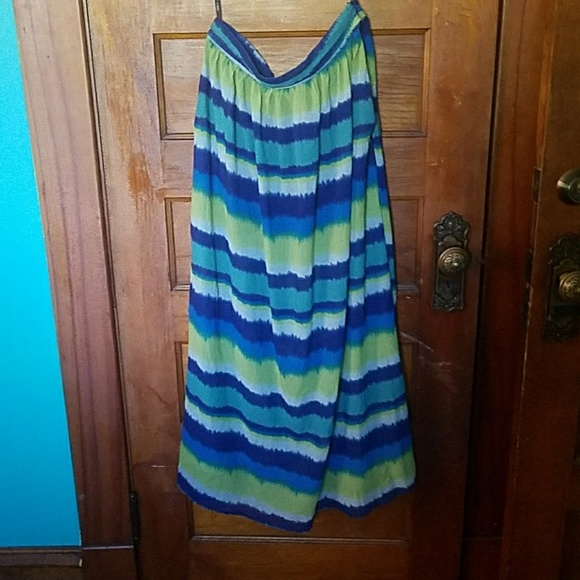 66 j dresses skirts blue and green striped